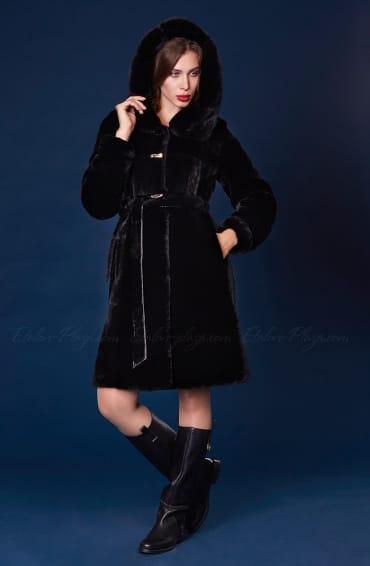 Women's Fur coat mouton mink