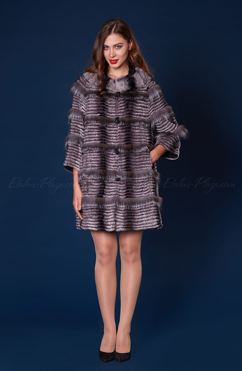Women's fur coat rex