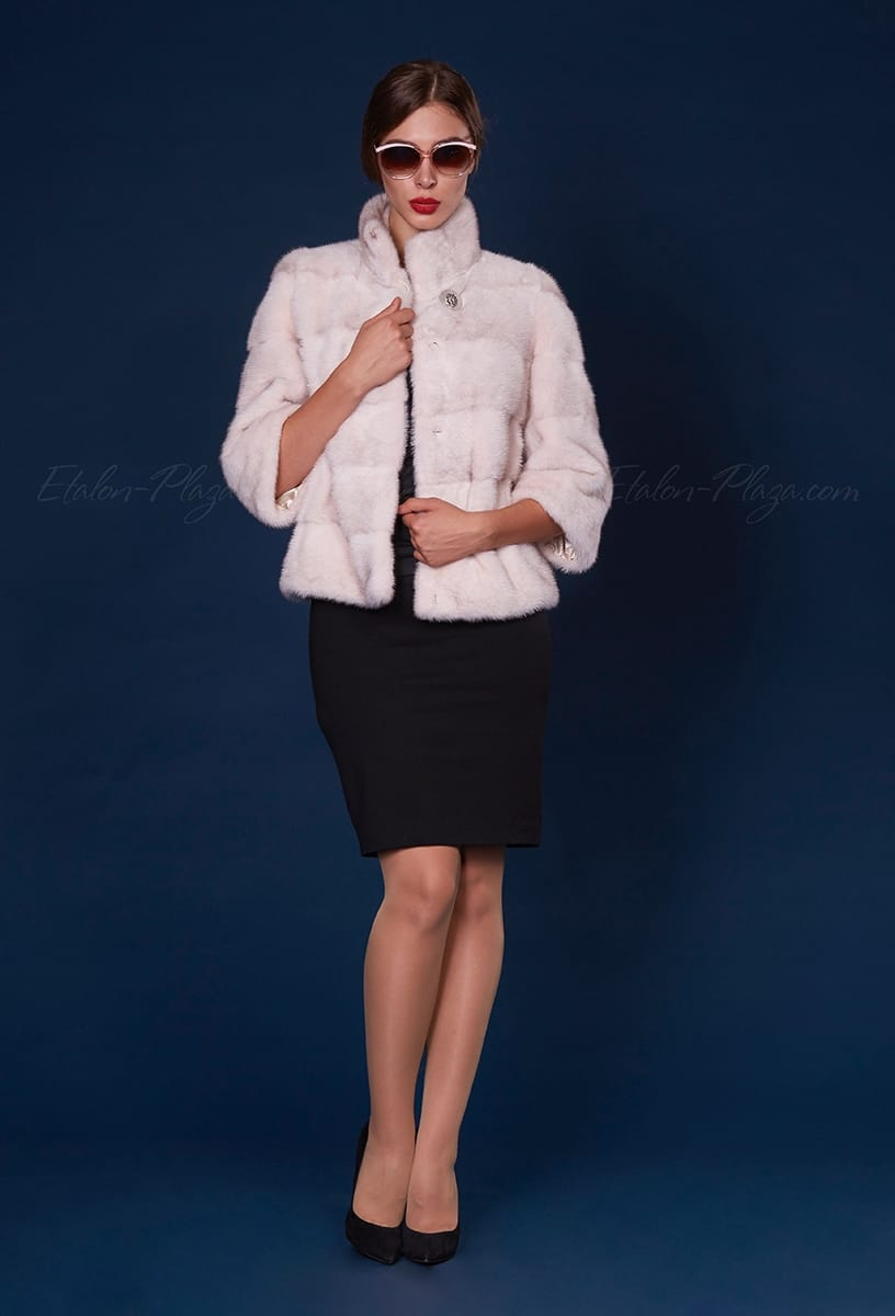 Women's Short mink fur coat