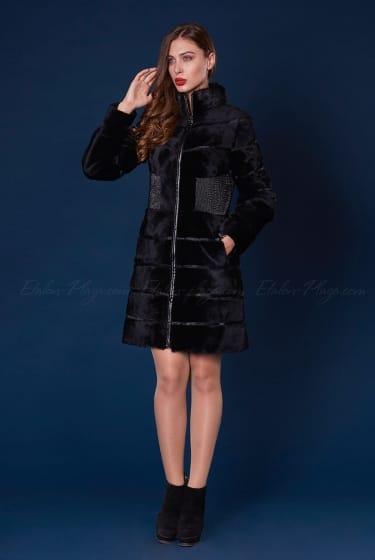 Women's fur coat from nutria