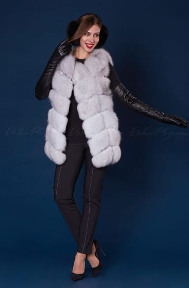 Women's arctic fox fur vest