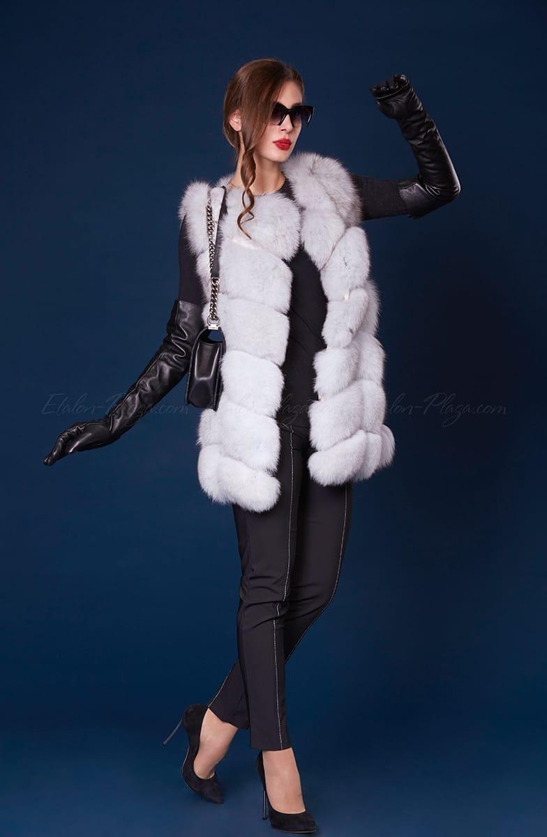 Women's arctic fox fur vest