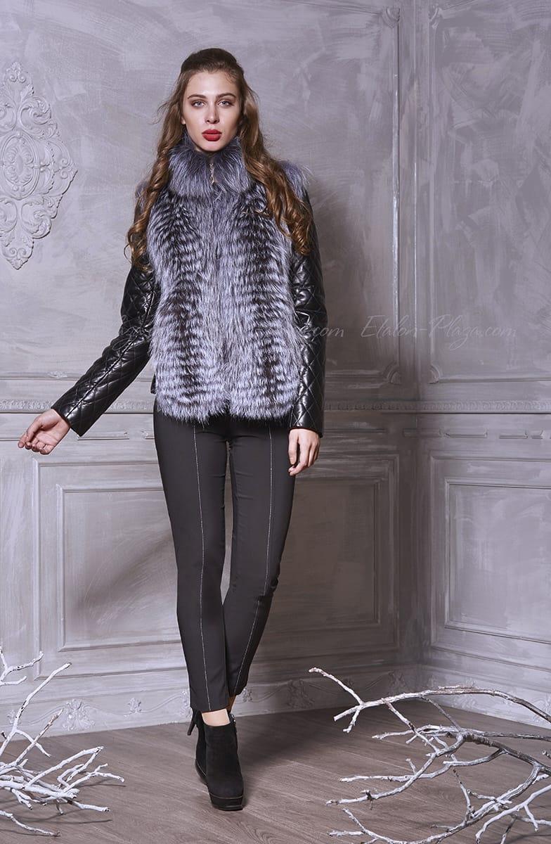 Women's leather jacket, fox