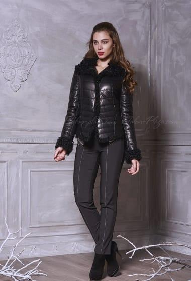 Women's Leather jacket, karakulcha