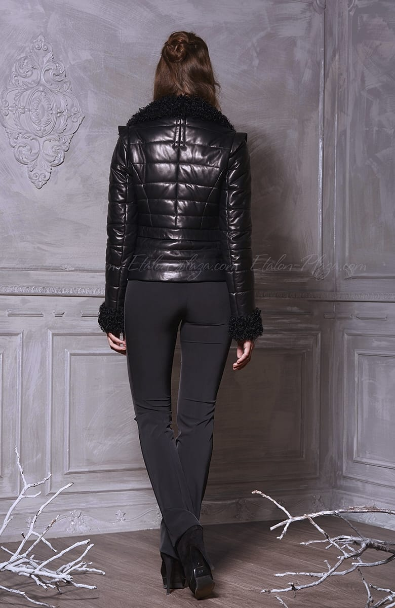 Women's Leather jacket, karakulcha