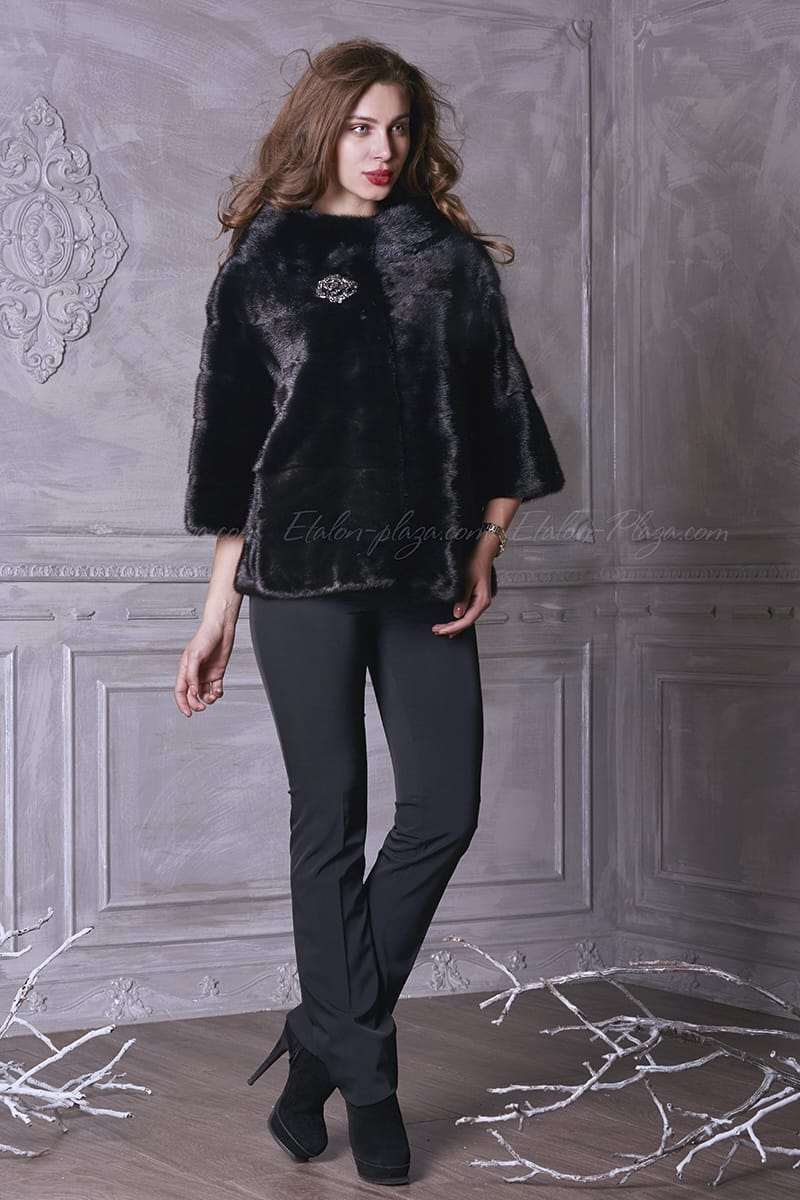 Mink half-length fur coat