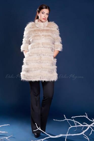 Women's fur coat Rex Racoon