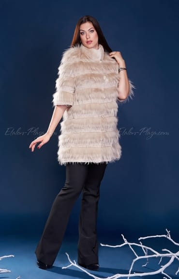 Women's fur coat Rex Racoon