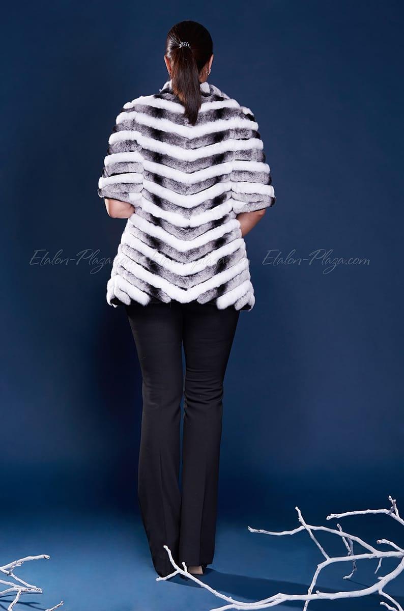 Women's fur vest Rex