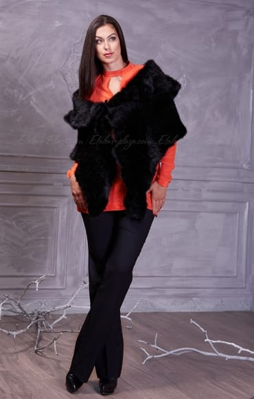 Women's black  Mink cape