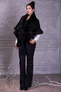 Women's black  Mink cape