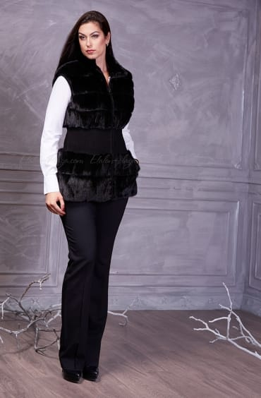 Women's mink fur vest