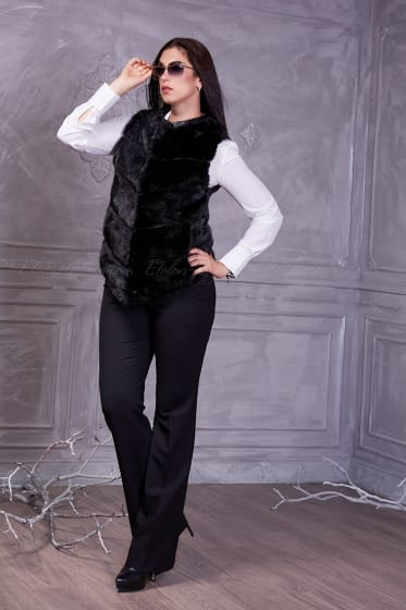 Women's black mink jacket
