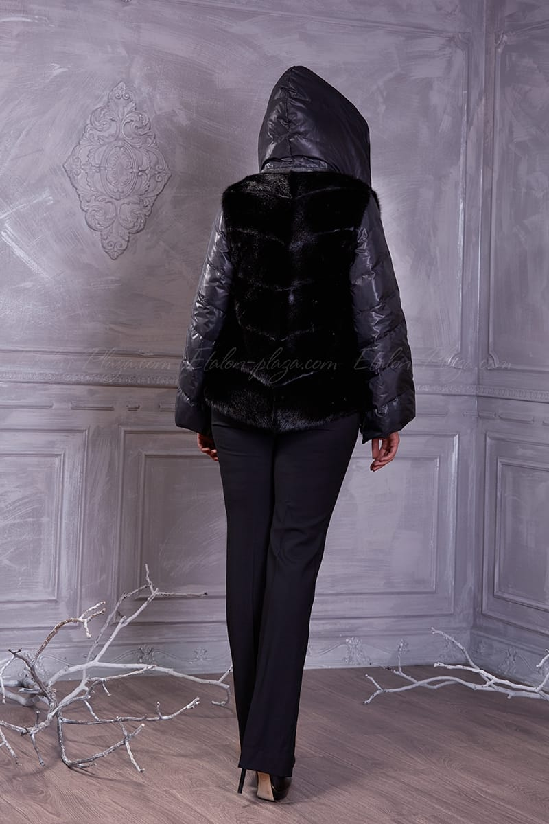 Women's black mink jacket