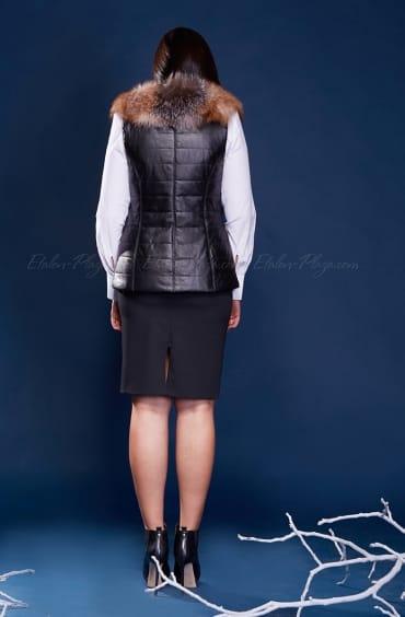Women's silver fox fur vest