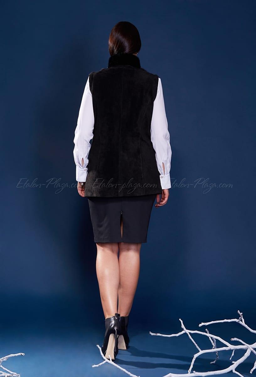Куртка жилетка норка замш