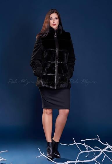 Women's mink suede Jacket Vest