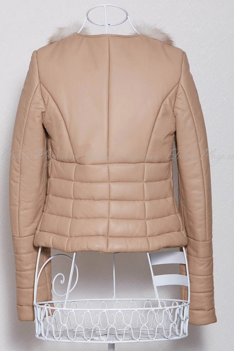 Women's Leather jacket insulated
