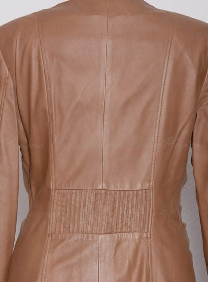 Women's leather cloak