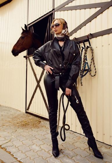 Женская кожаная куртка К1302