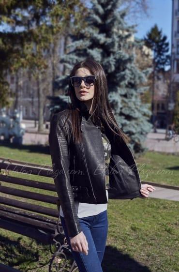 Women's Leather Jacket K1198