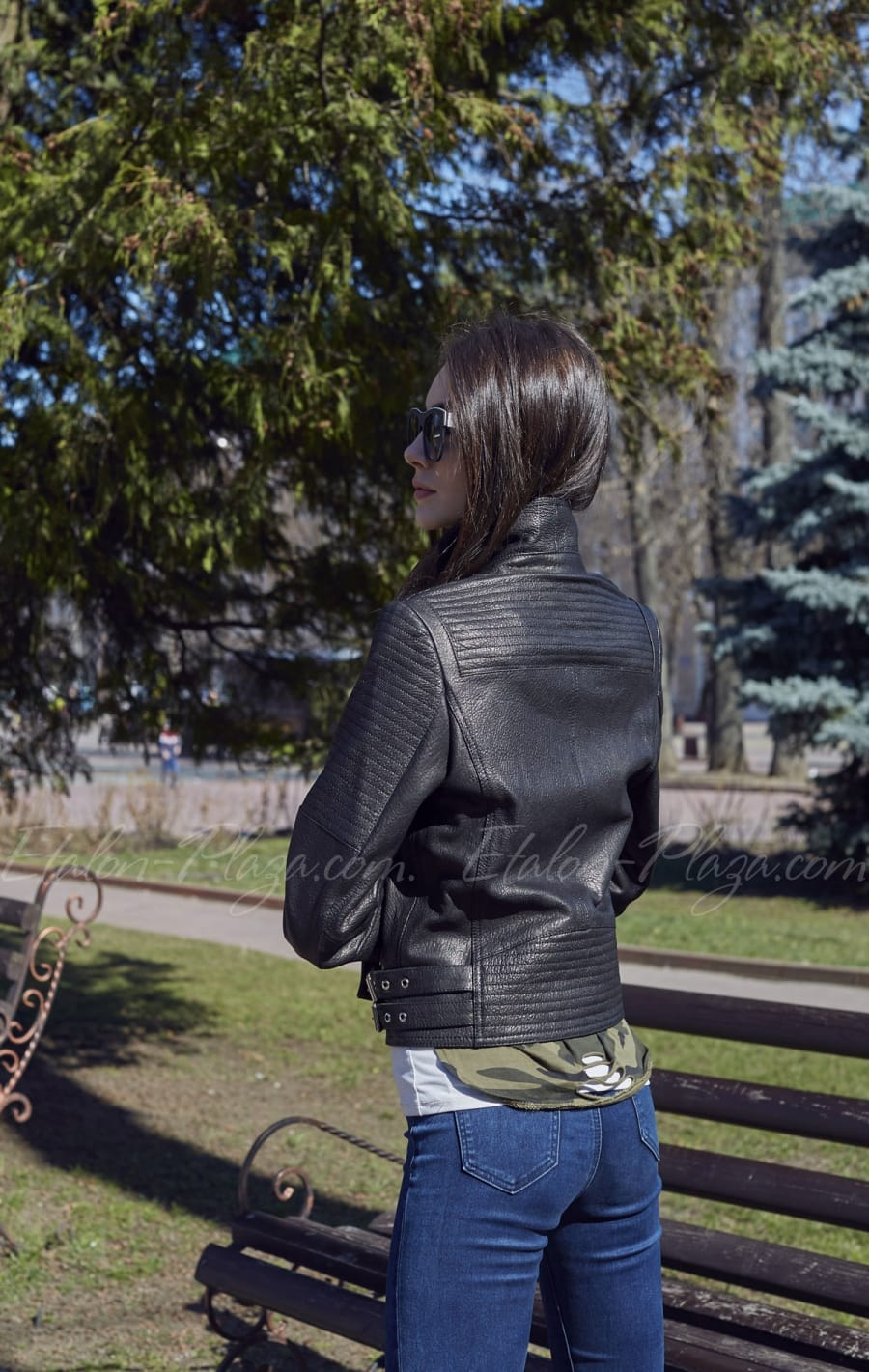 Женская кожаная куртка К1198