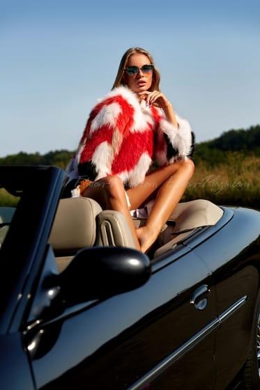 Women's fur coat (knitting)
