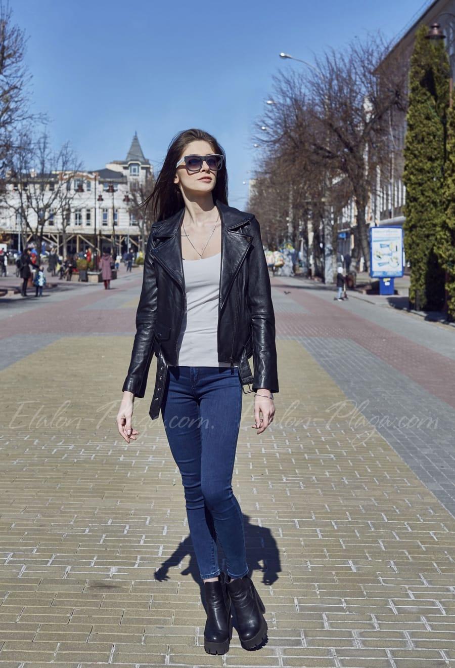 Женская кожаная куртка К1201