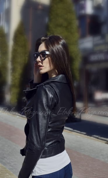 Women's Leather Jacket K1201