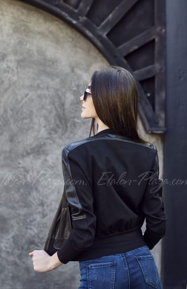 Leather female jacket K1203