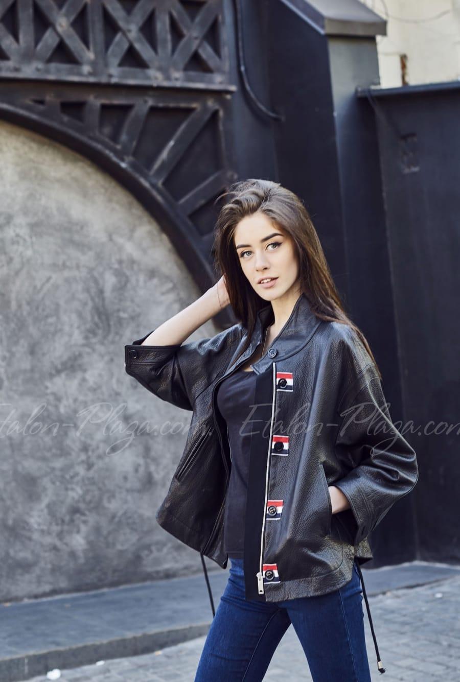 Women's leather jacket K1204