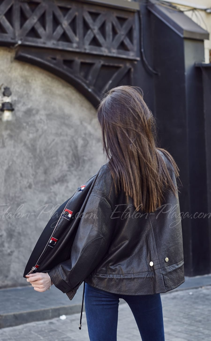 Women's leather jacket K1204