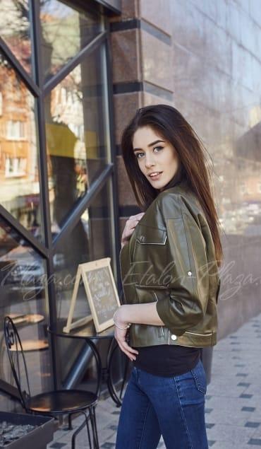 Женская кожаная куртка К1205