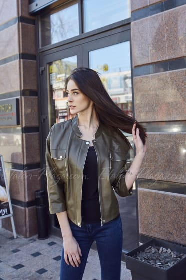 Women's leather jacket K1205