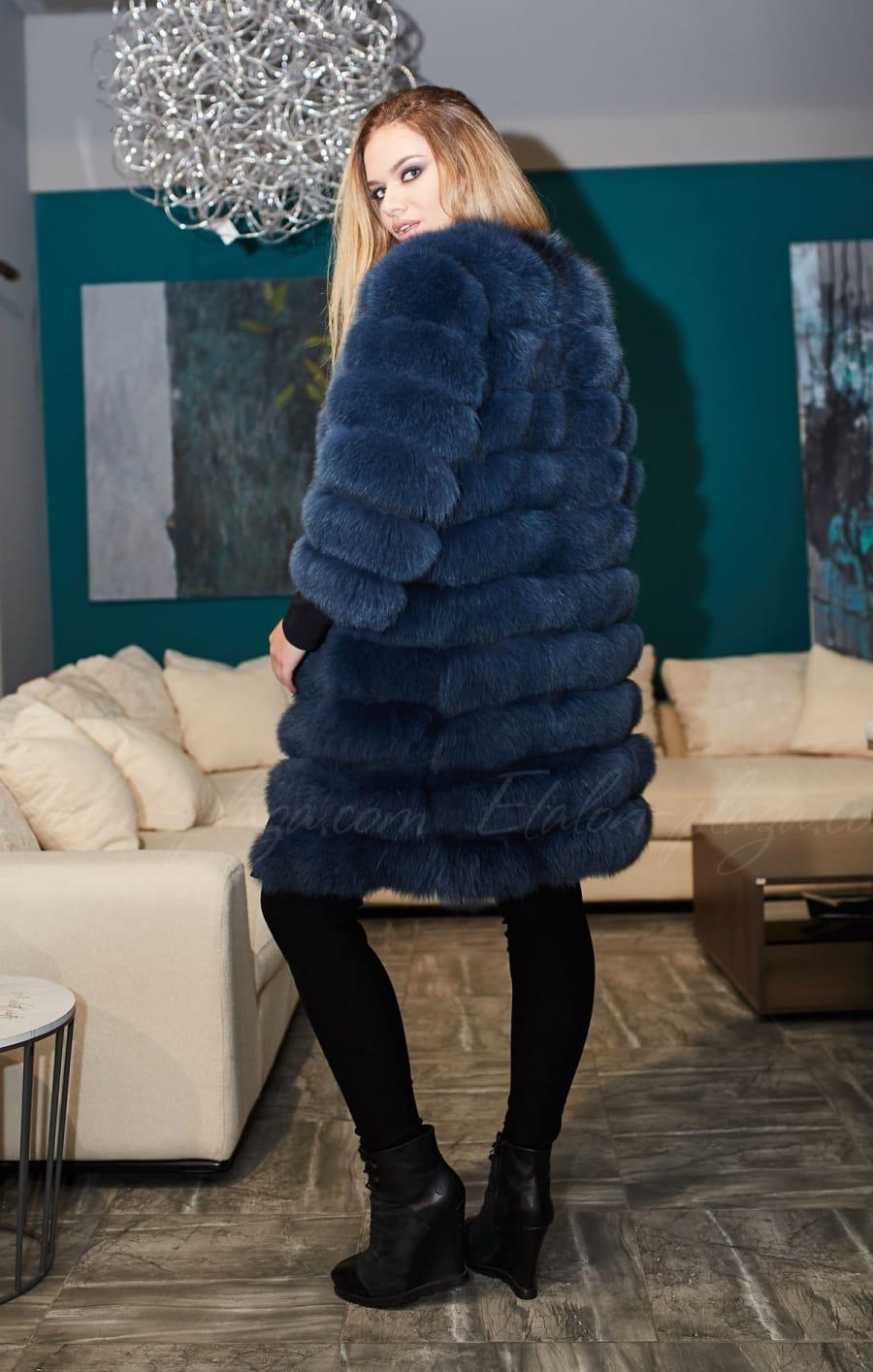 Fur coat vest