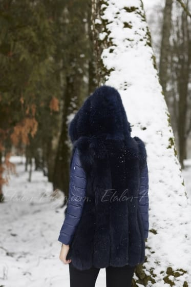 Женская жилетка синяя Ж1272