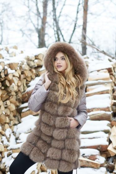 Женская куртка-жилетка