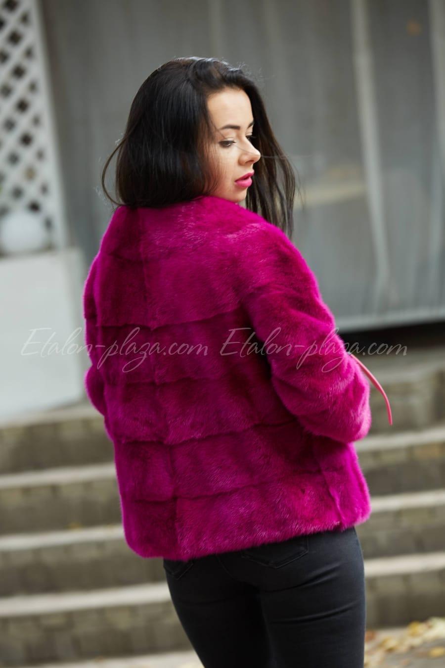 Mink half-length fur coat