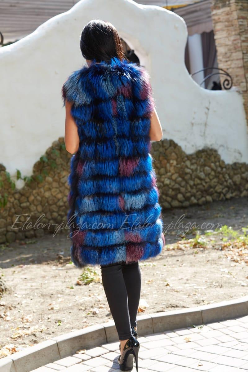 Жилетка женская из чернобурки