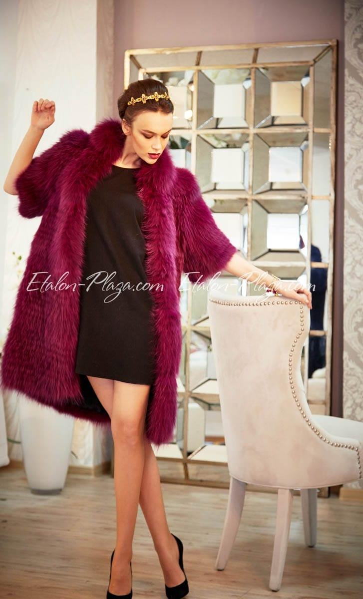 Women's fur coat vest