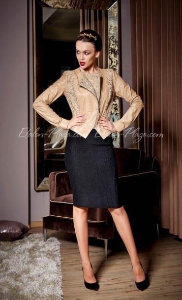 Жіноча Шкіряна куртка К1111