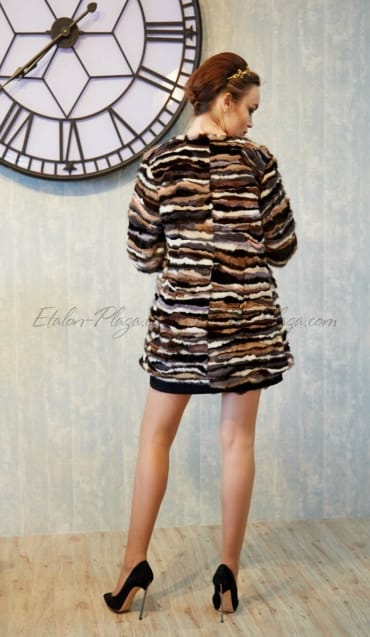 Women's fur coat vest