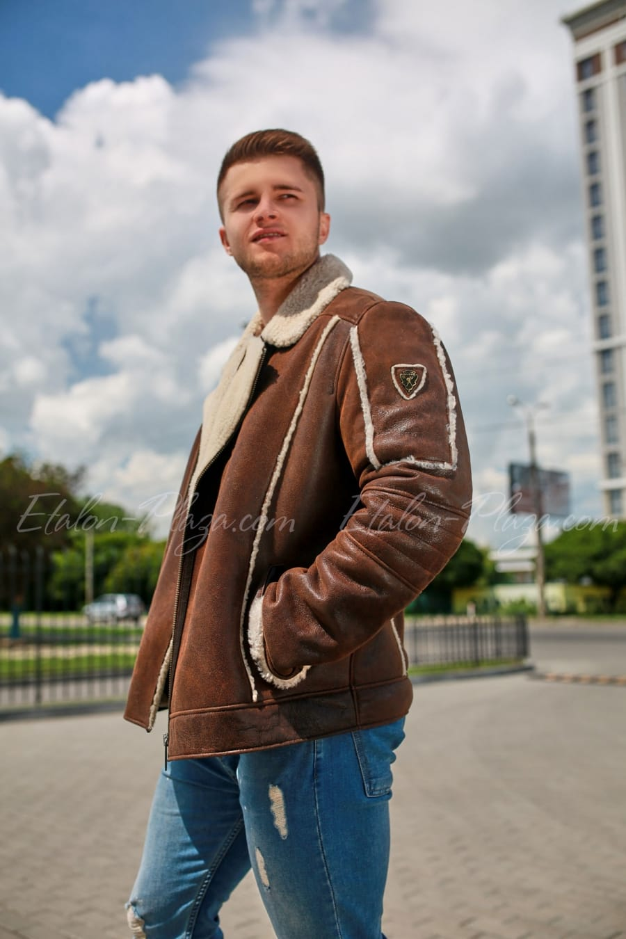 Men's sheepskin coat