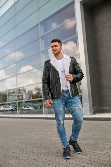 Мужская куртка дубленка КД1226