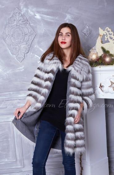 Women's fur coat with vest