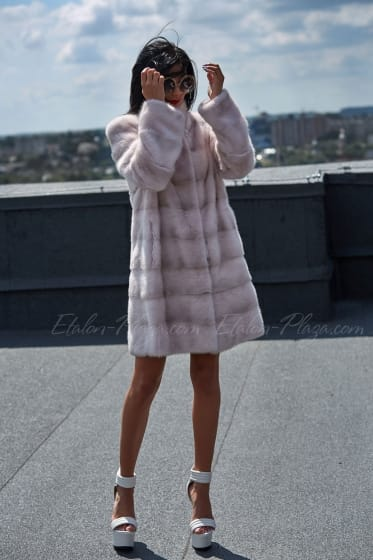 Mink female fur coat