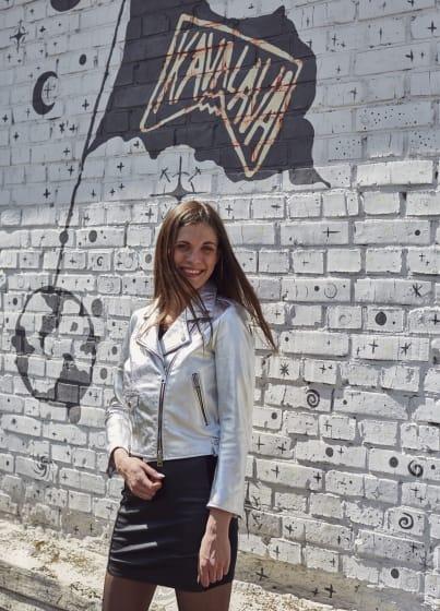 Куртка косуха сіра К1248