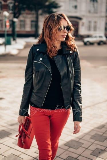Leather Women's Jacket K1194