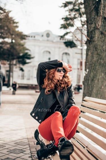 Женская кожаная куртка К1195