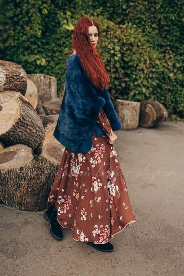 Женская шуба-жилетка